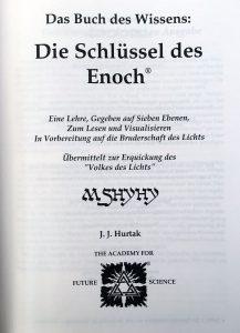 1 Seite Buch Hurtak - Das Buch des Wissens: Die Schlüssel des Enoch: Eine Lehre auf Sieben Ebenen